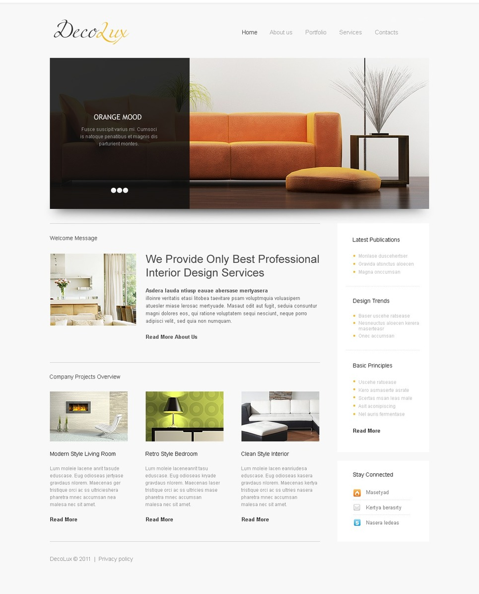 Home Decor Website Template 35176