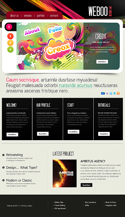 Weboo - Web Design WordPress Theme