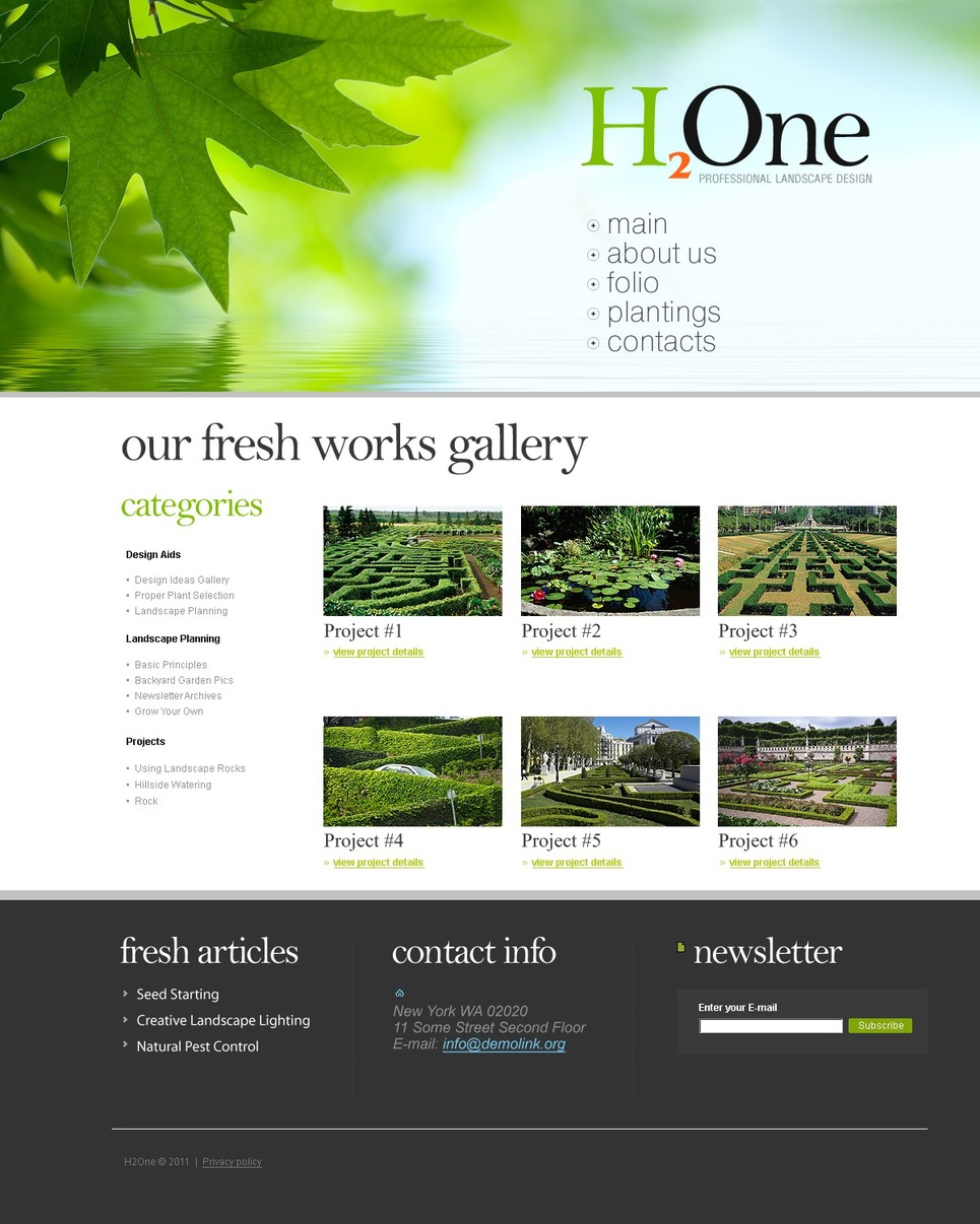 Landscape design joomla template 35202 for Template monstre