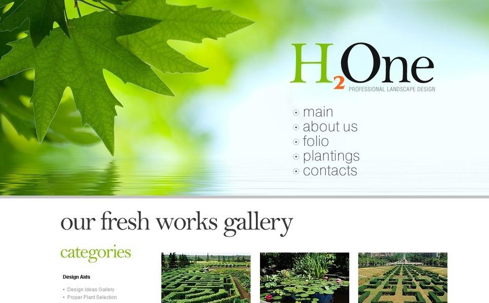 Landscape Design Joomla Template New Screenshots BIG