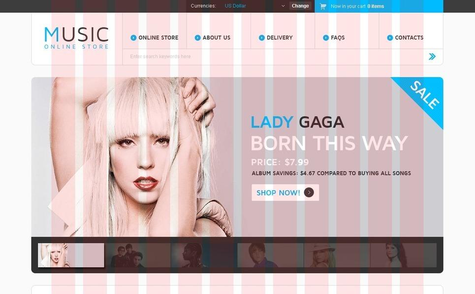 Music Store VirtueMart Template New Screenshots BIG