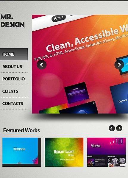 Design Studio Facebook Flash CMS Template Facebook Screenshot