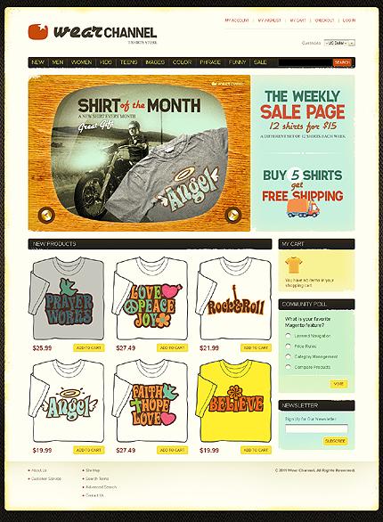 Wear channel - Exquisite T-shirt Shop Magento Theme