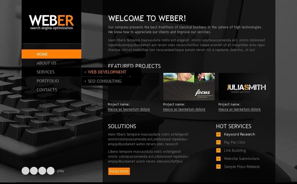 SEO Website Website Template New Screenshots BIG