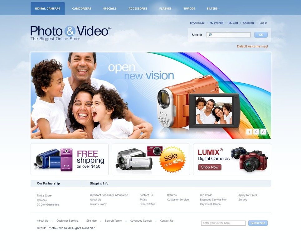 Video Store Magento Theme New Screenshots BIG