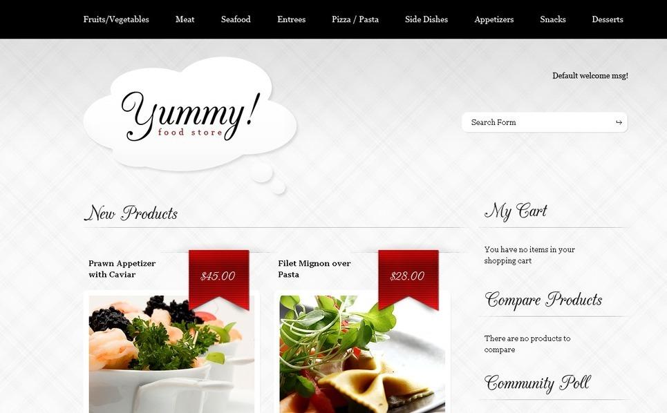 Food Store Magento Theme New Screenshots BIG