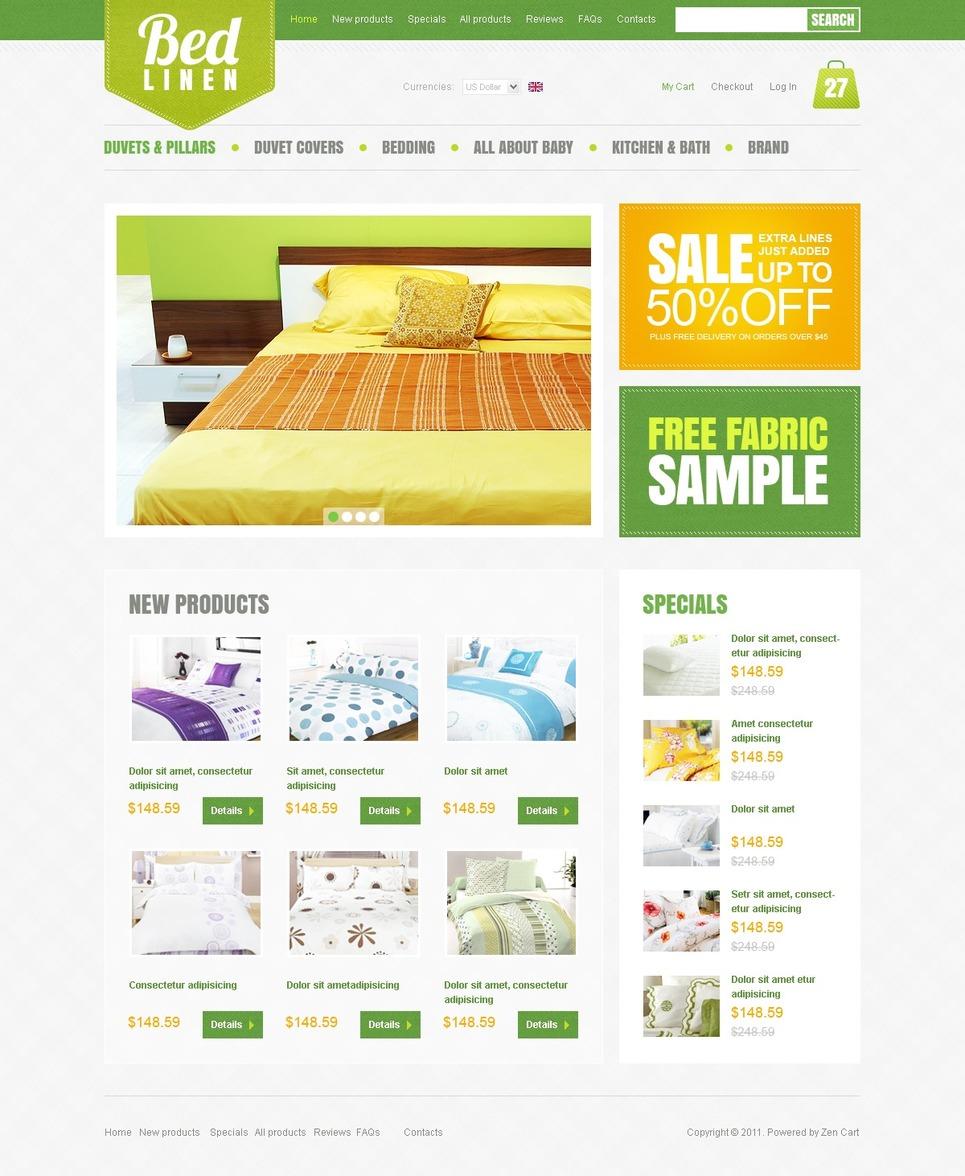 Home Decor ZenCart Template New Screenshots BIG