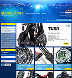 Water Sports Accessories - PrestaShop Theme #35373 by Ares