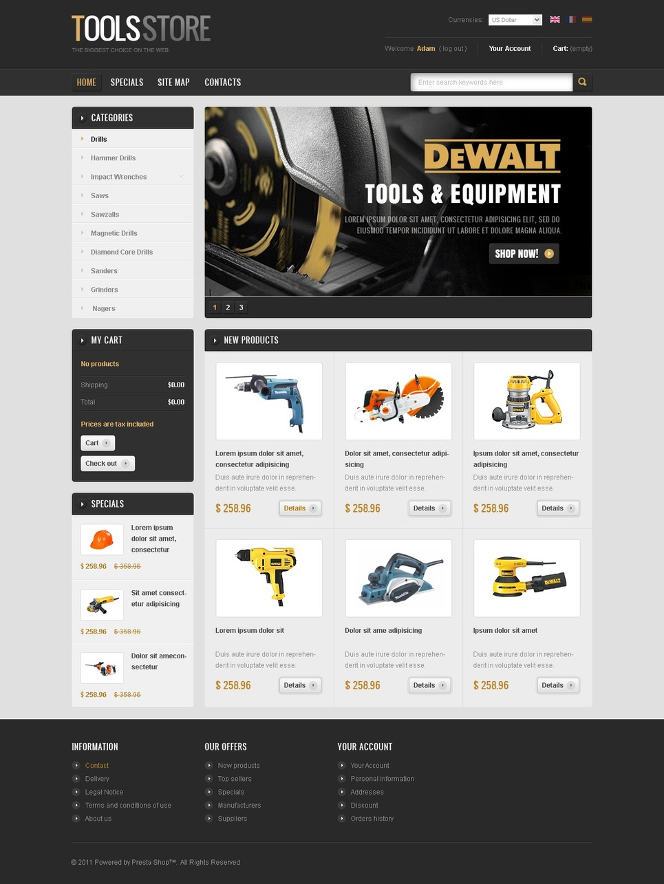 Best WorkPlce Tools PrestaShop Theme