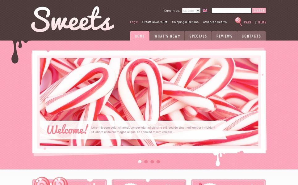 Sweet Shop OsCommerce Template New Screenshots BIG
