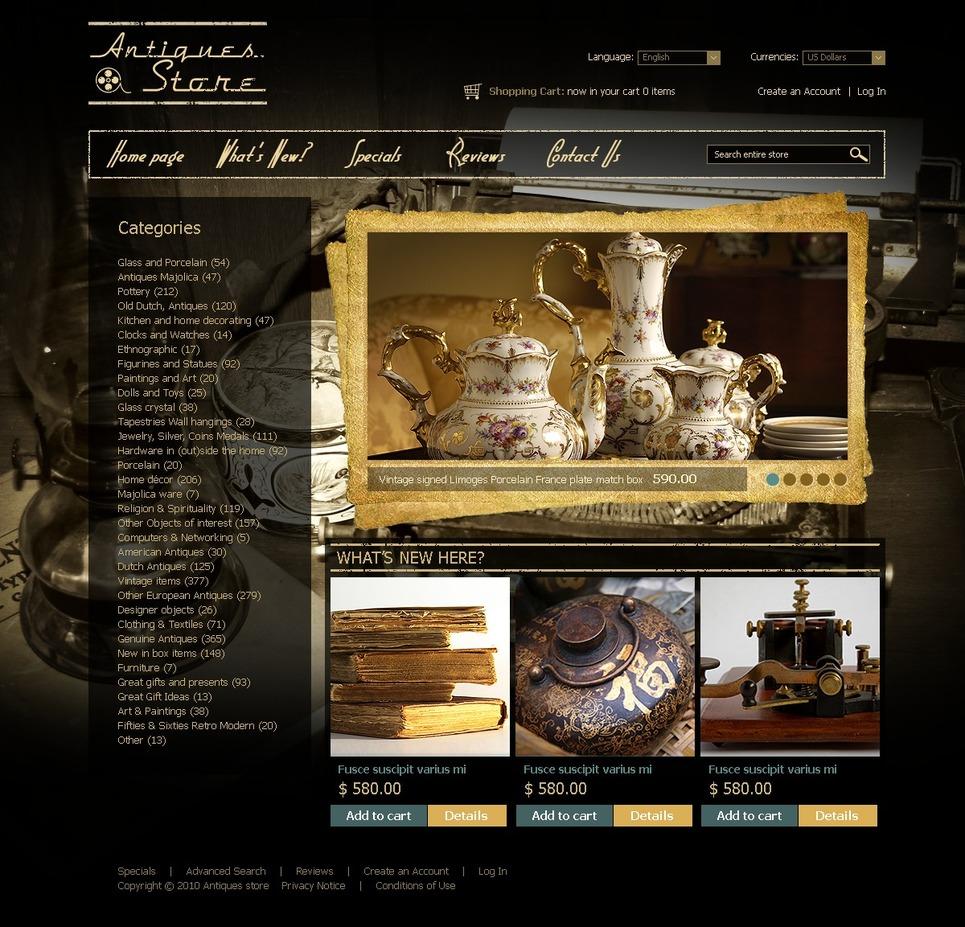 Interior Design OsCommerce Template New Screenshots BIG
