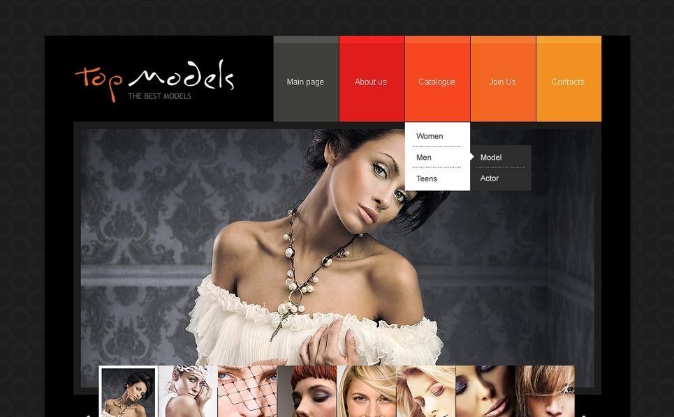 Model Portfolio Website Template New Screenshots BIG