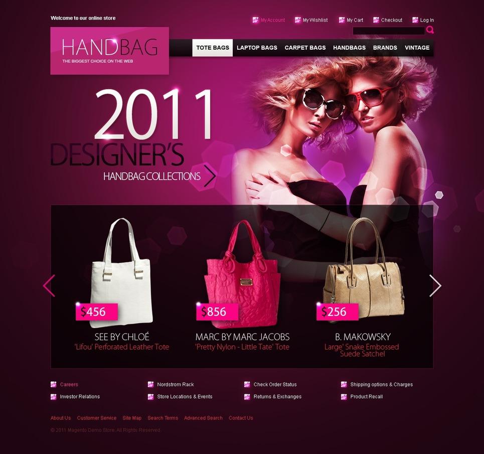 Handbag Magento Theme New Screenshots BIG