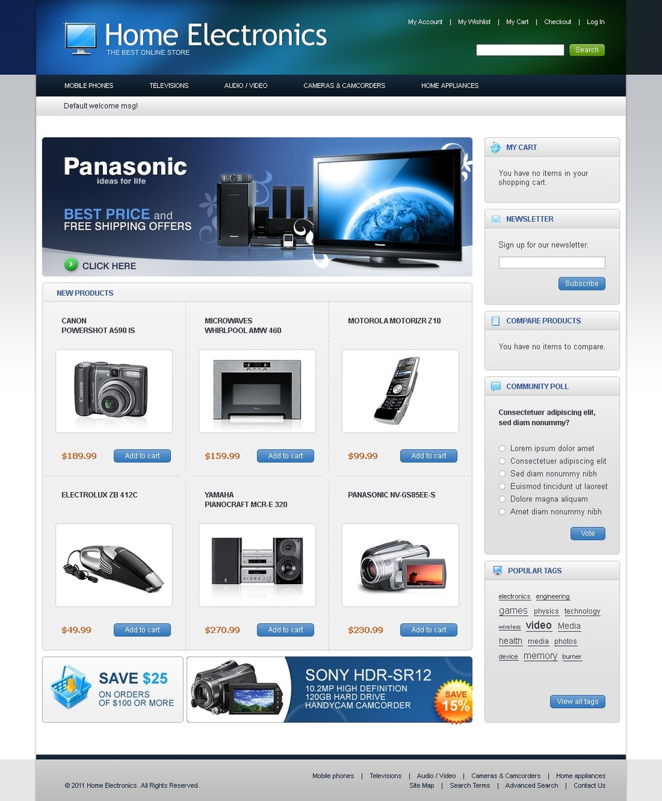Superb Home Electronics Magento Theme