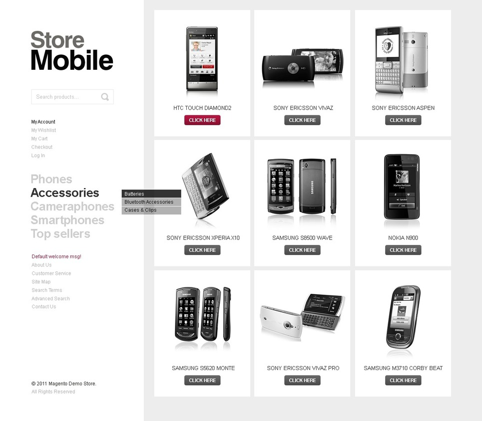 Surprising Store Mobile Magento Theme