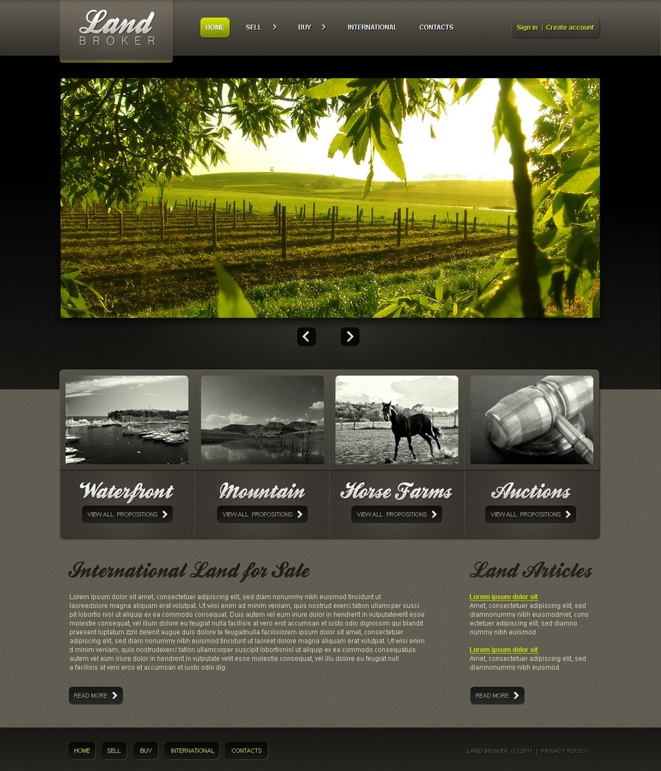 Land Broker PSD Template New Screenshots BIG