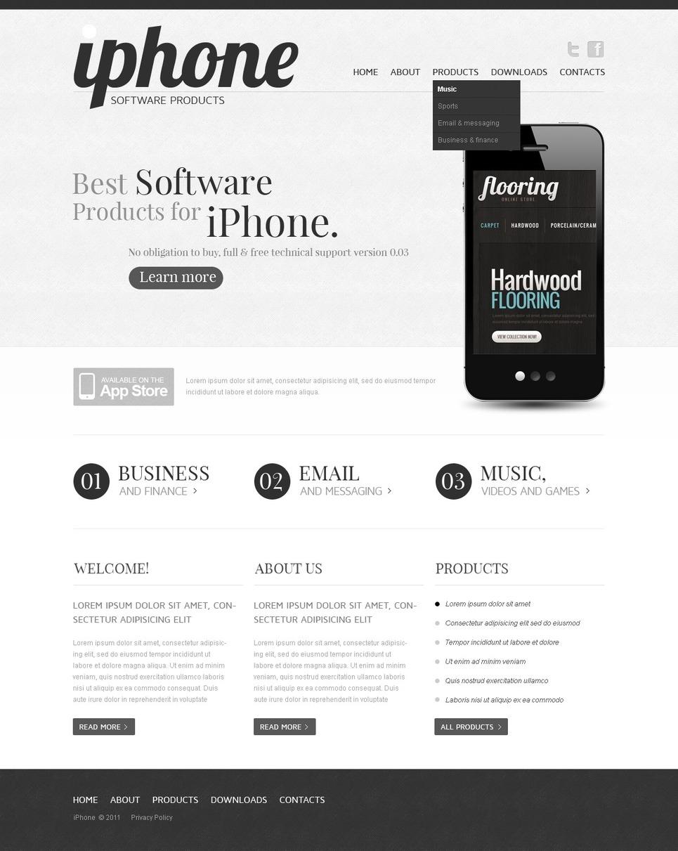 Software Store Website Template New Screenshots BIG