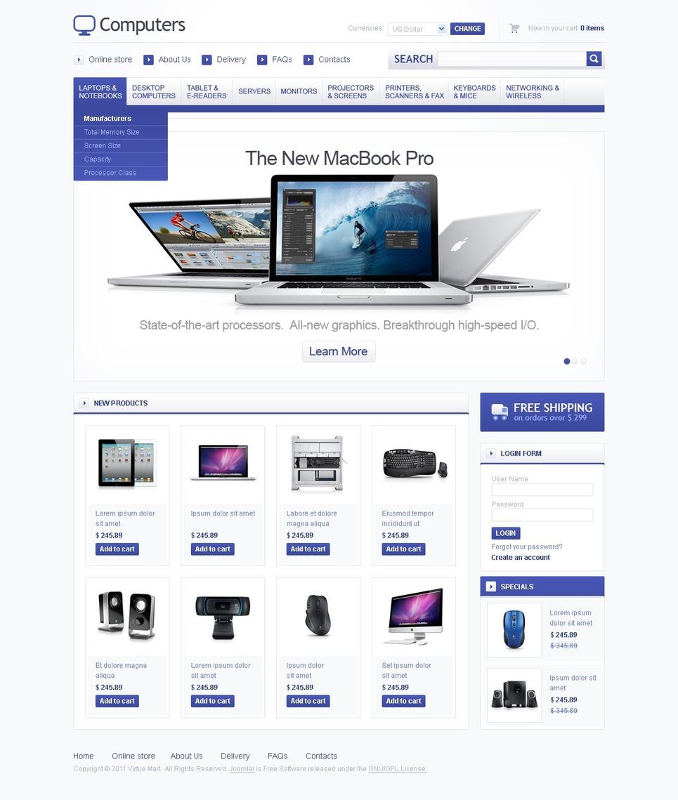 Computer Store Facebook Flash Template New Screenshots BIG