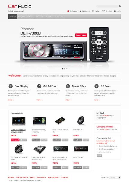 Car audio - Rocking Car Audio Magento Theme