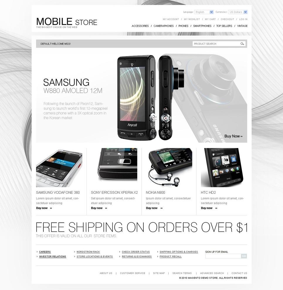 Expressive Mobile Store Magento Theme
