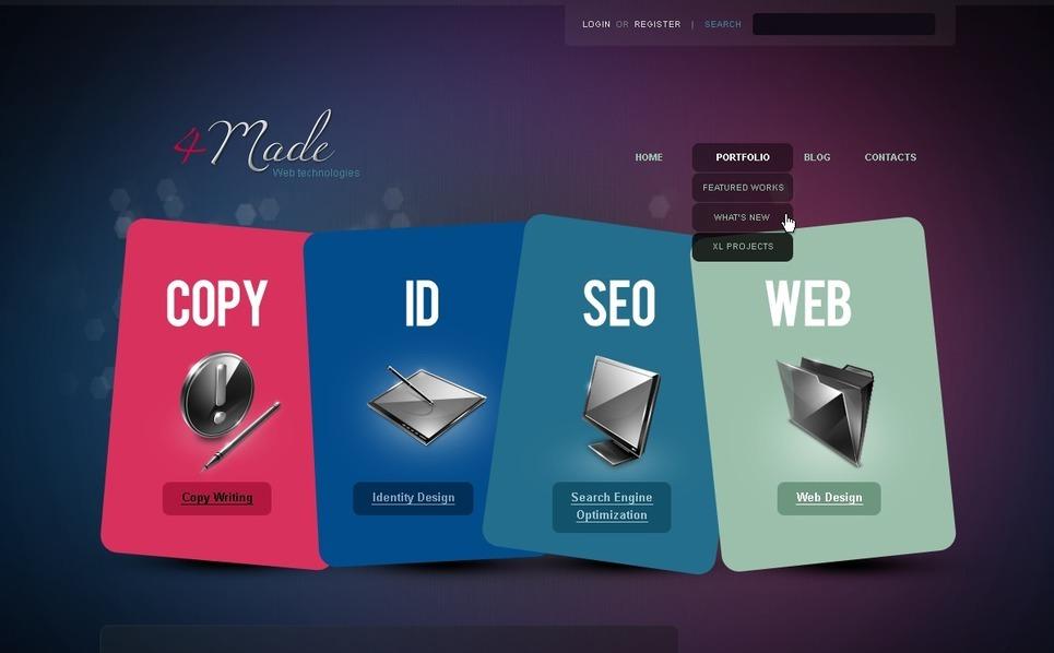 Web Development WordPress Theme New Screenshots BIG