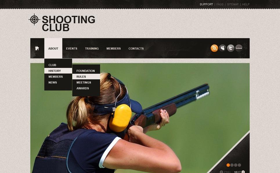 Shooting Website Template New Screenshots BIG