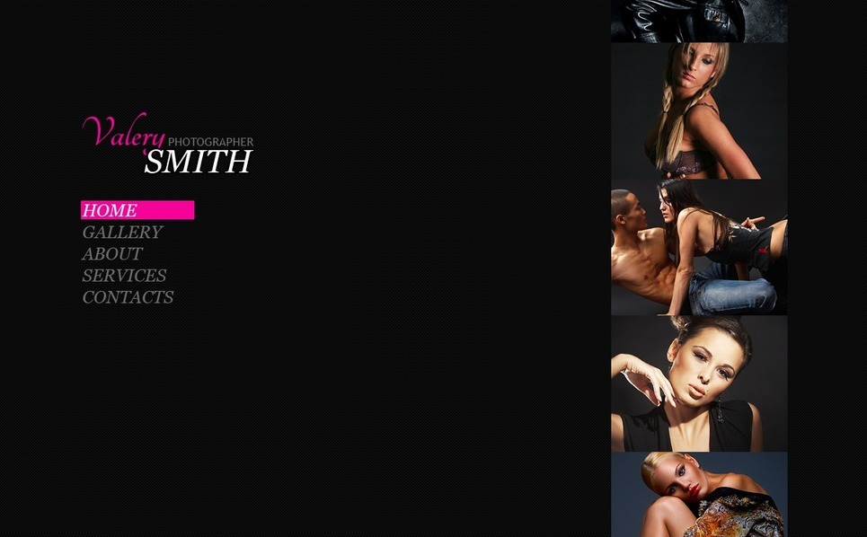 Photographer Portfolio Facebook Flash CMS Template New Screenshots BIG