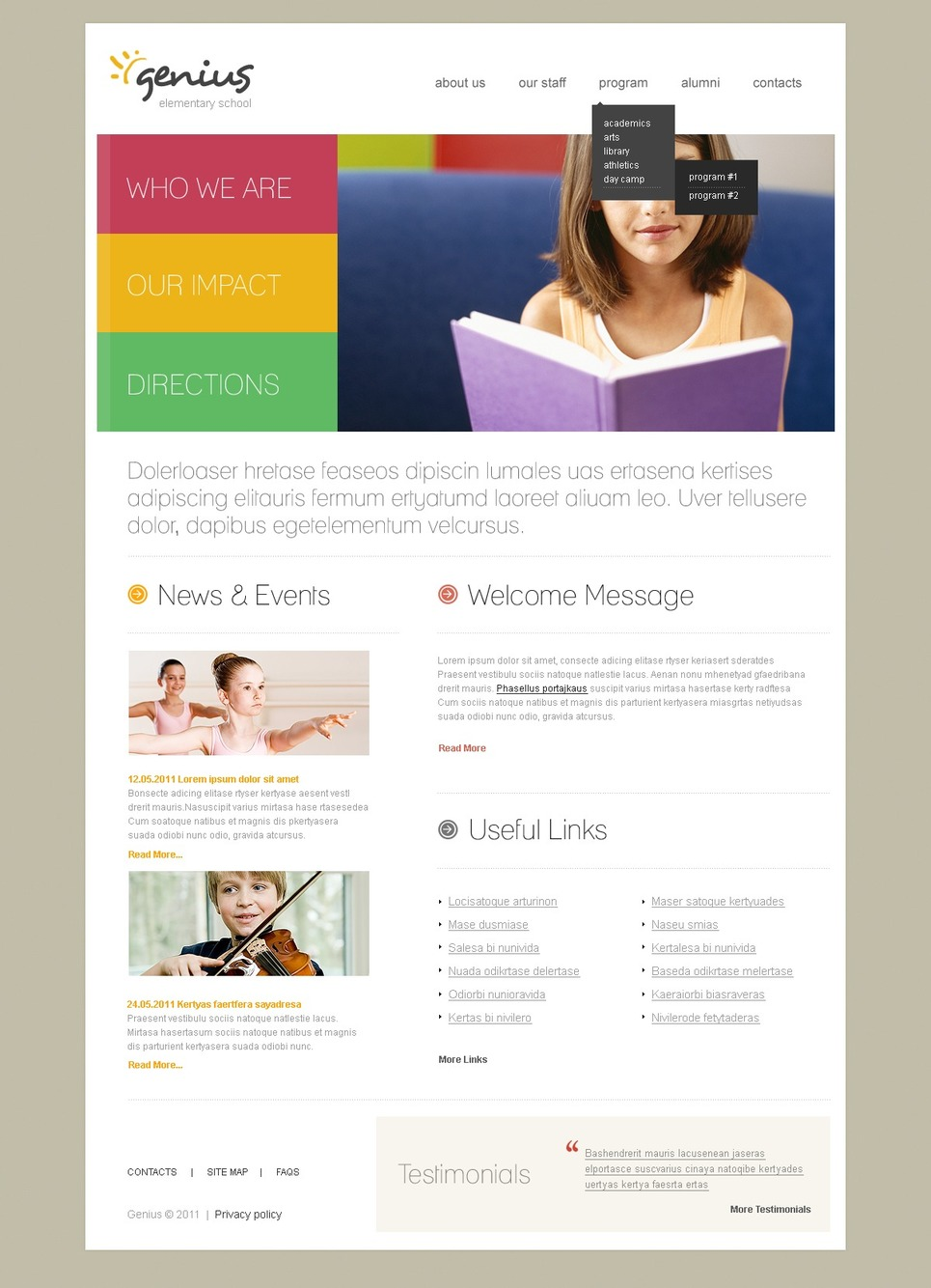 Education Joomla Template New Screenshots BIG