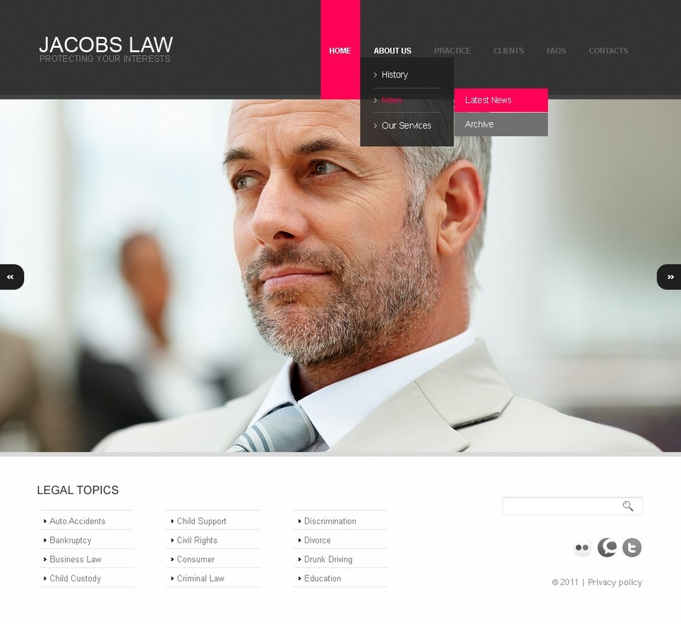 Law Firm Website Template New Screenshots BIG