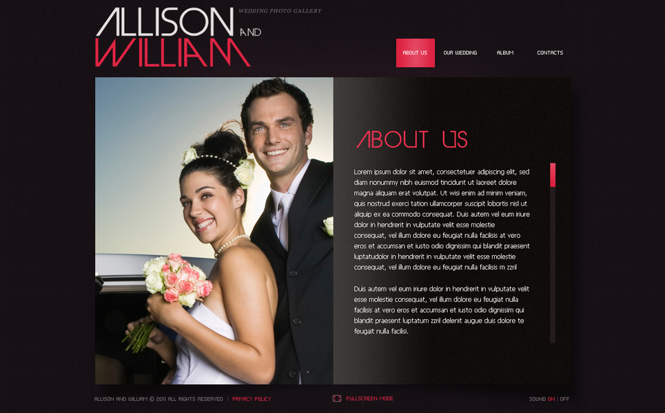 Wedding Book Style Flash CMS Template - image