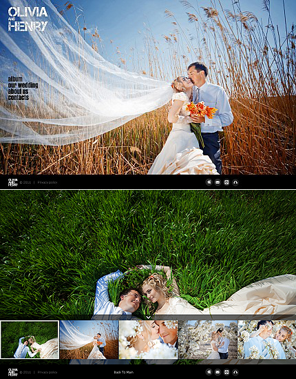 Wedding Album Photo Gallery Template aHomepage photoshop Flash CMS Template