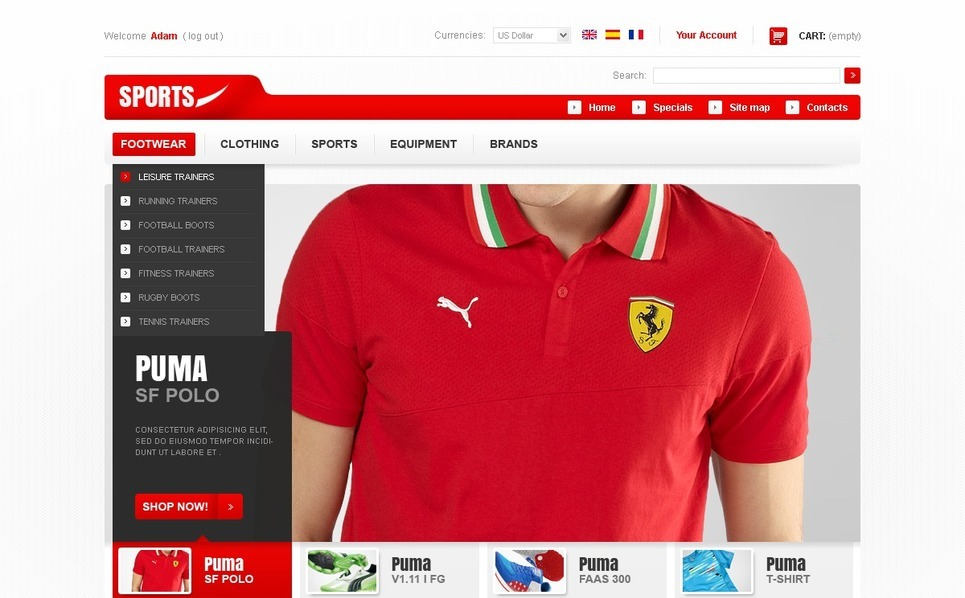Sports Fashion PrestaShop Theme New Screenshots BIG