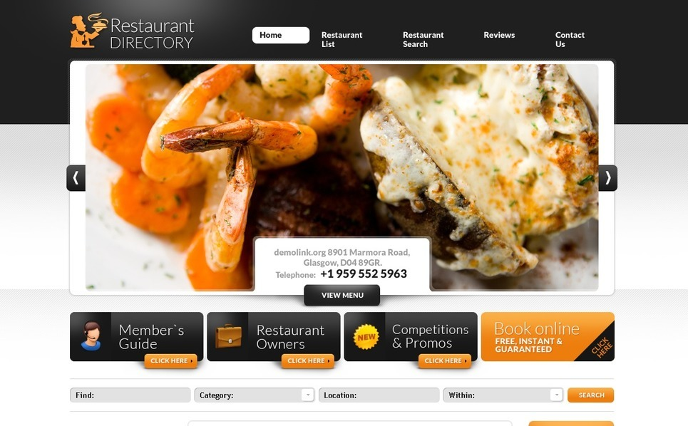 Cafe and Restaurant Website Template New Screenshots BIG