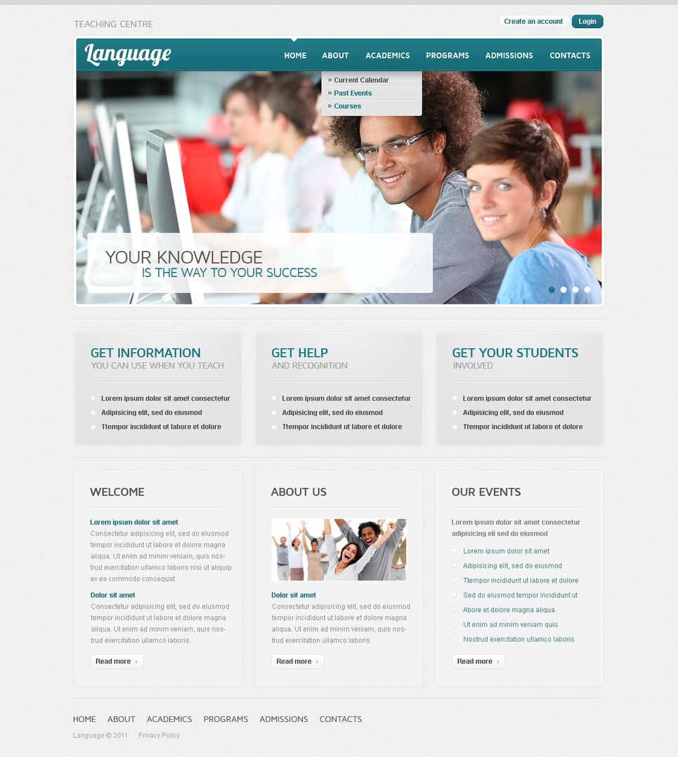 Language School Website Template New Screenshots BIG