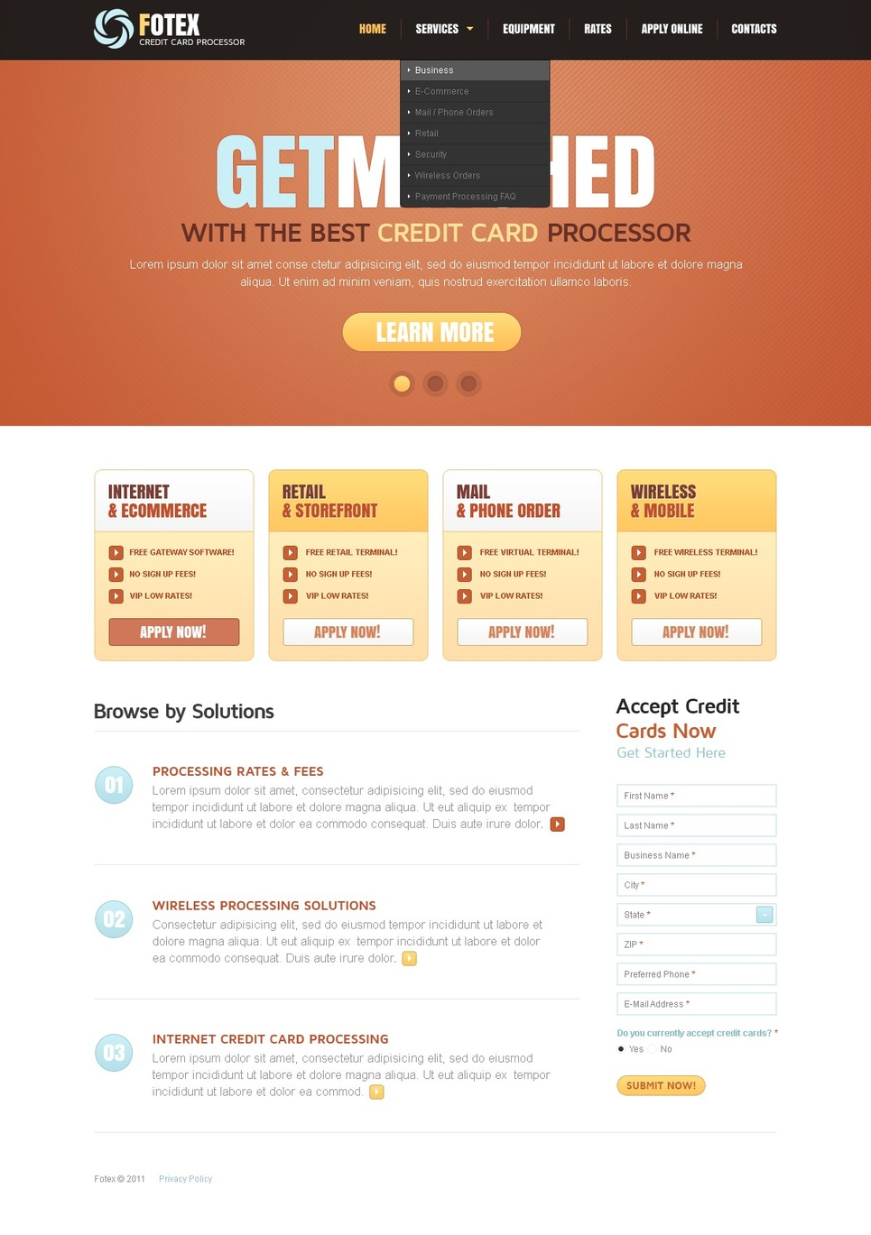 Bank Website Template New Screenshots BIG