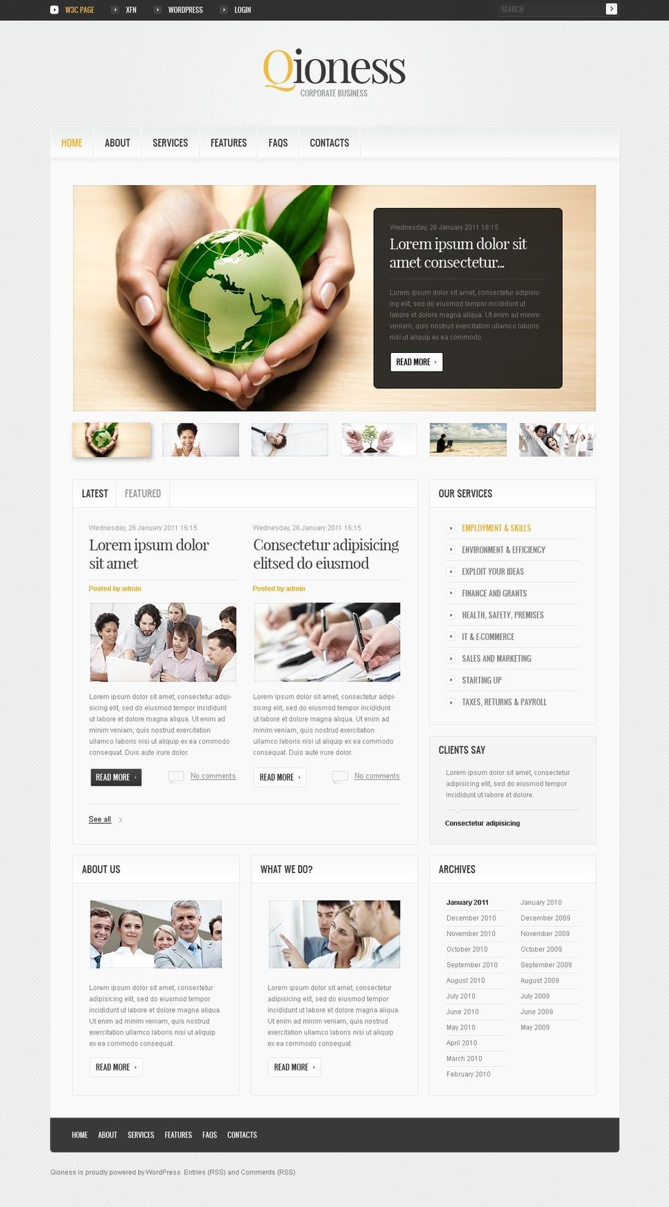 Шаблоны: html web monster template