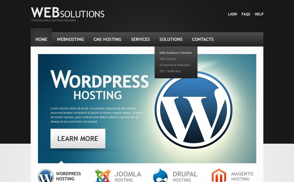 Hosting Website Template New Screenshots BIG