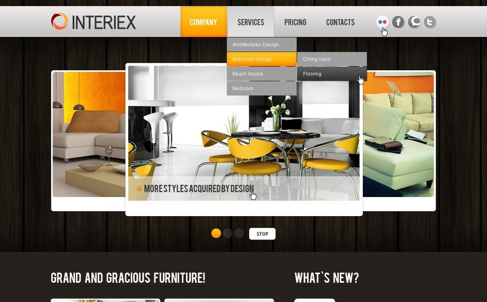 Interior Design Website Template New Screenshots BIG
