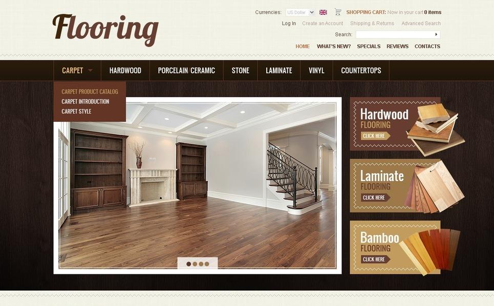 Flooring OsCommerce Template New Screenshots BIG