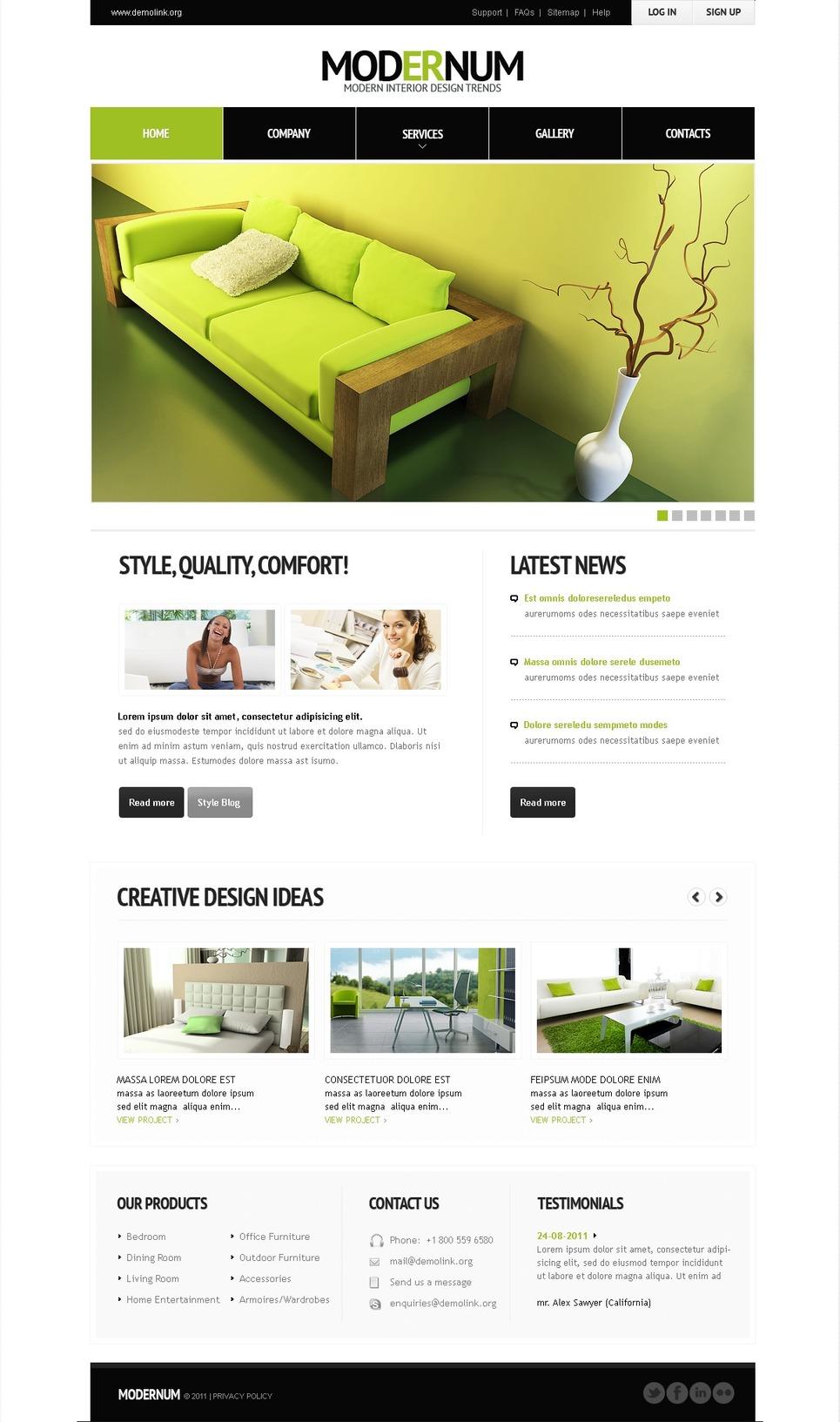 Interior Design WordPress Theme New Screenshots BIG