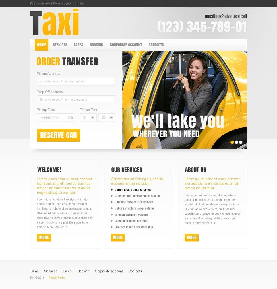 Taxi Website Template New Screenshots BIG