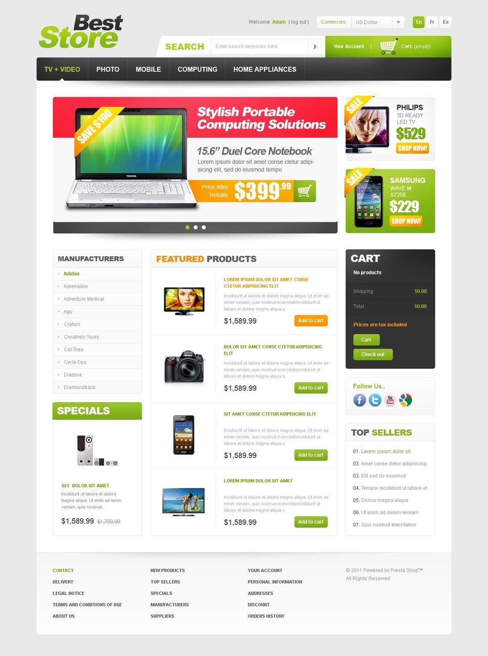 Best eCommerce Offers PrestaShop Theme New Screenshots BIG
