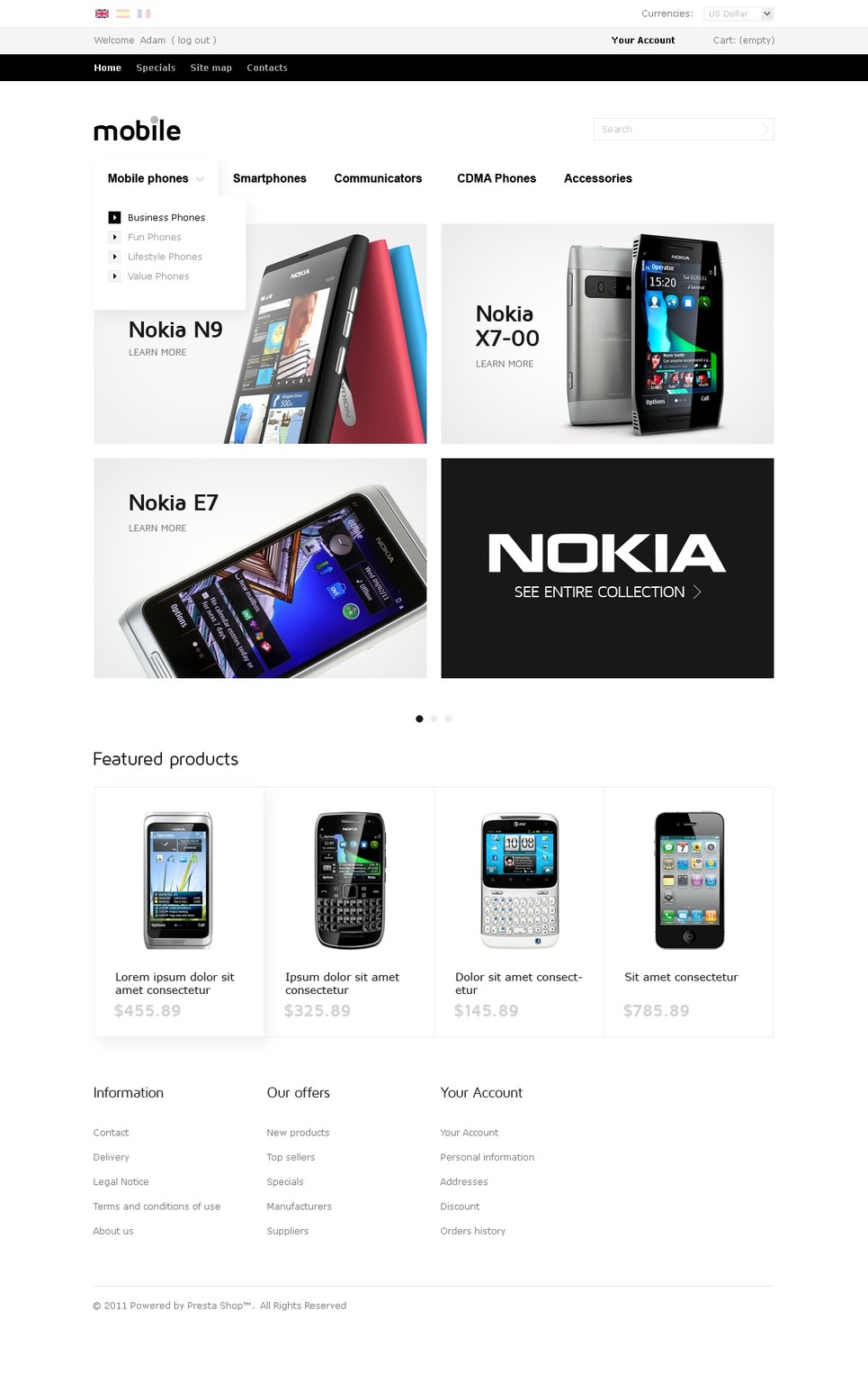 Mobile Devices Online PrestaShop Theme New Screenshots BIG