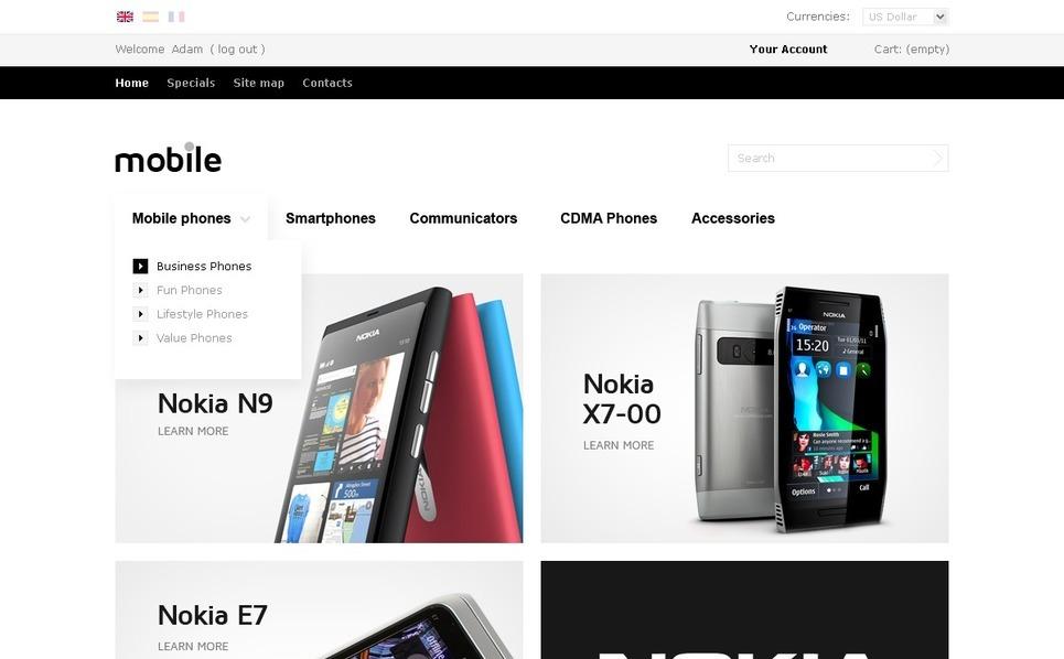 Mobile Devices Online PrestaShop Theme New Screenshots BIG