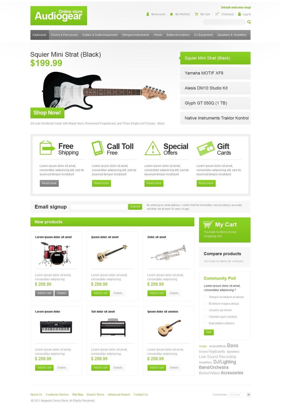 Audio Store Magento Theme New Screenshots BIG