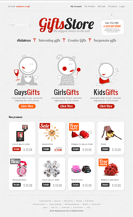 Gifts store – The biggest choice on the Web