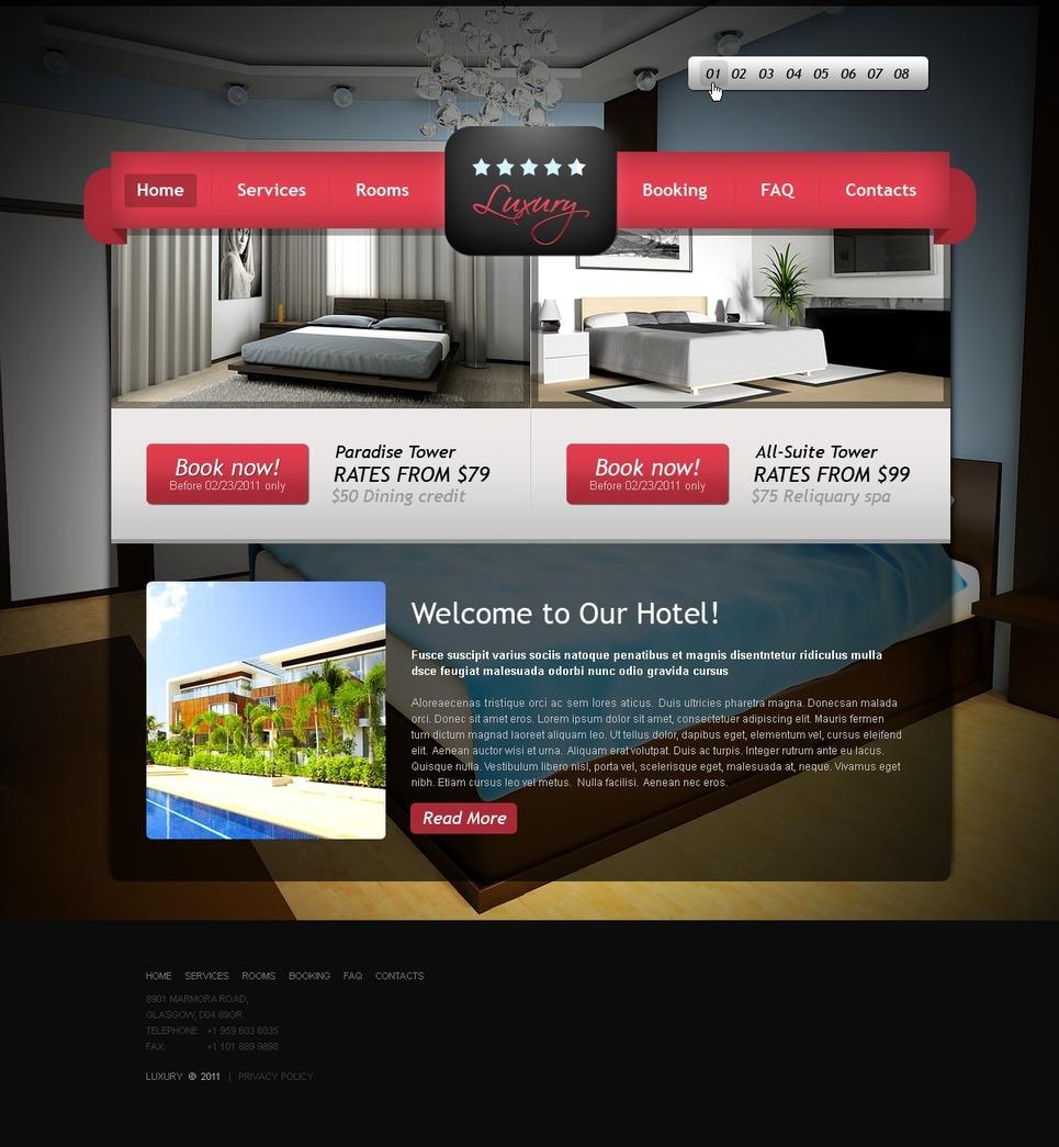 Hotels Website Template New Screenshots BIG