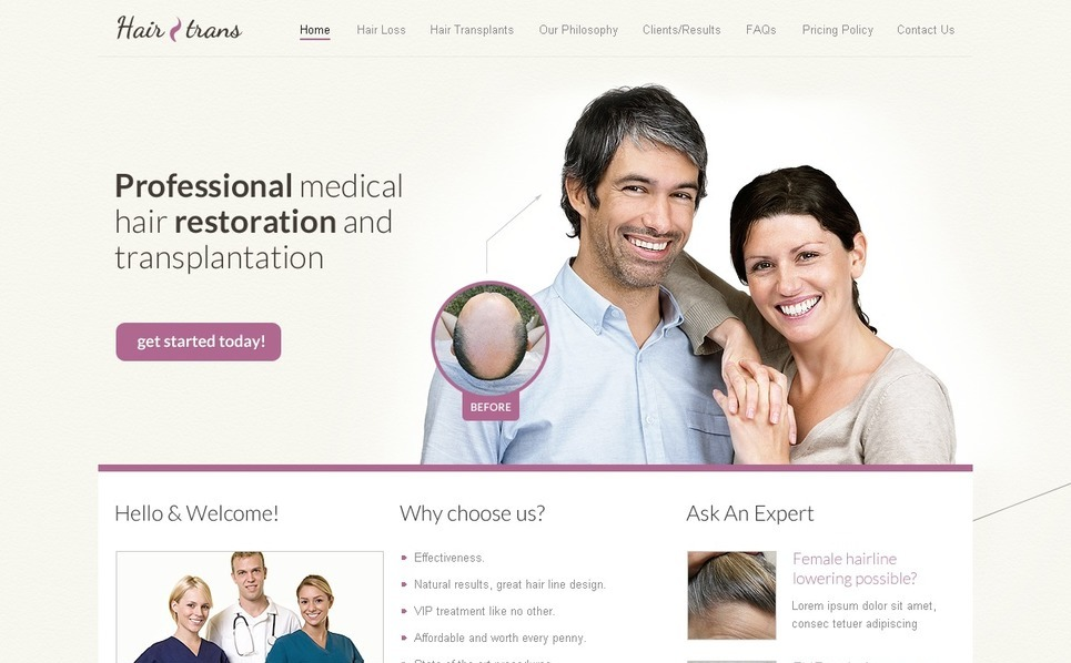 Hair Clinic Website Template New Screenshots BIG