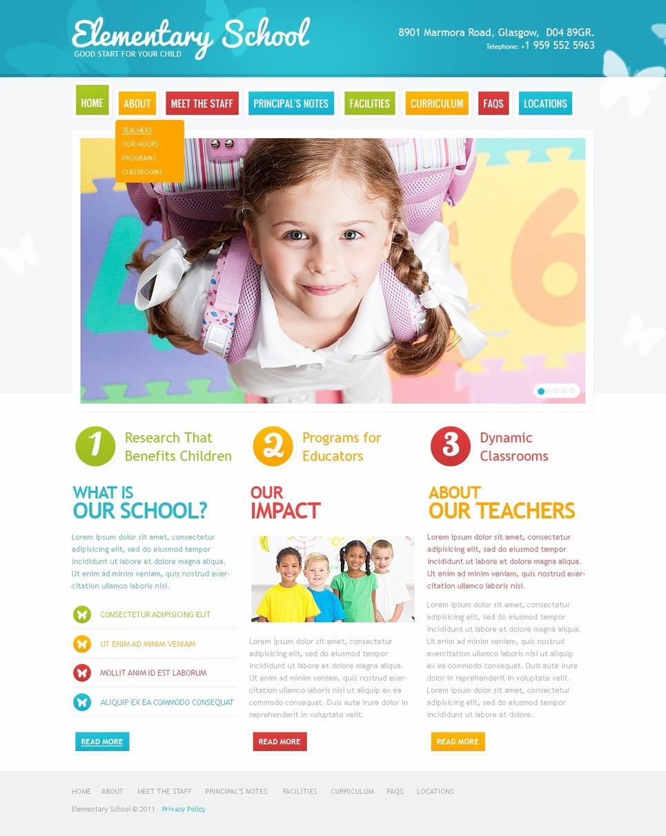 Primary School Website Template New Screenshots BIG