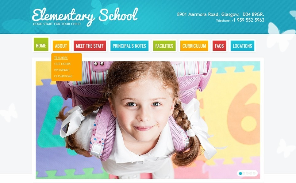 Primary School Website Template New Screenshots BIG